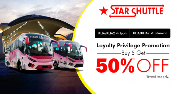 Star Shuttle new Loyalty Privilege Promotion