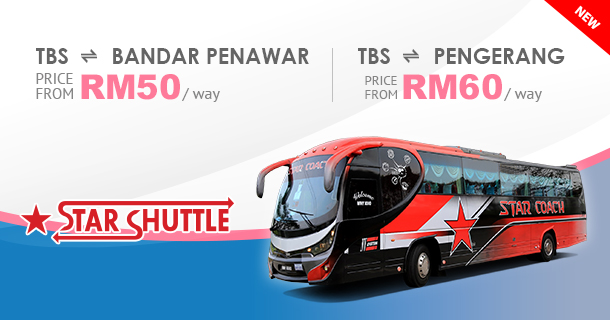 Star-Coach offers TBS to Bandar Penawar and Pengerang