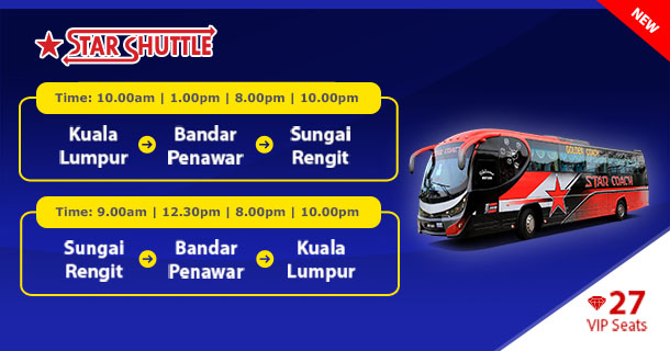 Star Coach Express offers bus service among TBS, Bandar Penawar and Sungai Rengit